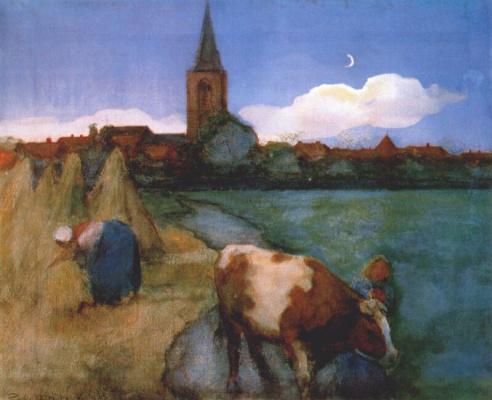 Piet Mondrian. View Of Winterswijk