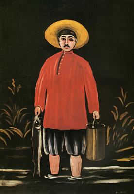 Нико Пиросмани (Пиросманашвили). Рыбак в красной рубашке