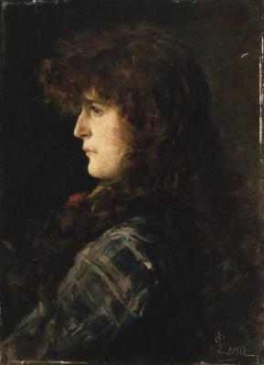 Сильвестро Лега. Голова женщины