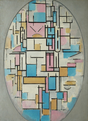 Piet Mondrian. Composition in oval with color planes 1