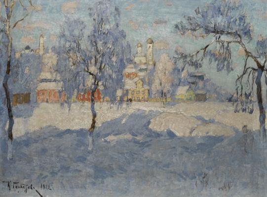 Константин Иванович Горбатов. Вид Пскова под снегом. 1922