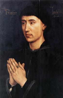 Rogier van der Weyden. Portrait diptych of Laurent Froimont