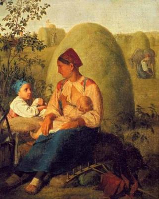 Алексей Гаврилович Венецианов. Сенокос