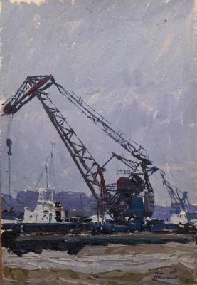 Павел Петрович Токмаков (1924-2002). Одесские портовые краны