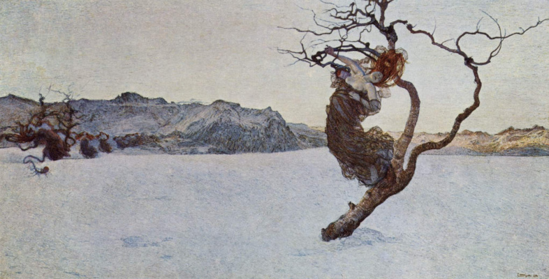 Giovanni Segantini. Evil mother