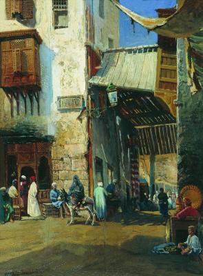 Konstantin Makovsky. Cairo. Etude