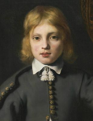 Фердинанд Балтасарс Боль. Портрет мальчика (деталь)