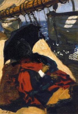 Джон Сингер Сарджент. Мать художника на борту судна
