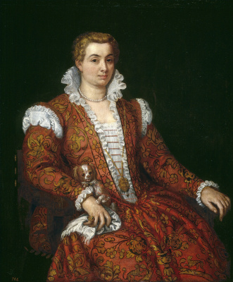 Paolo Veronese. Portrait of Livia Columns