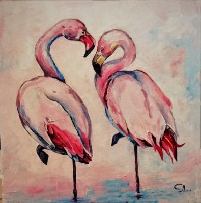 Love Semenkova. Flamingo in love