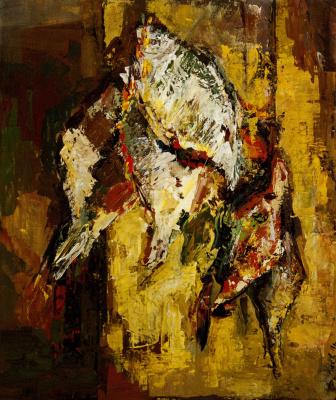Dmitry Gennadyevich Popov. Still life with fish