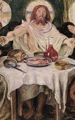 Форд Мэдокс Браун. Христос и ужин в Эммаусе. Фрагмент