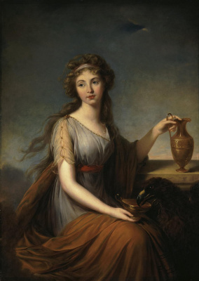Elizabeth Vigee Le Brun. Portrait of Anna pitt as Hebe