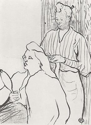 Henri de Toulouse-Lautrec. Hairdresser