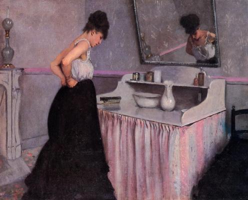 Гюстав Кайботт. Женщина у туалетного столика