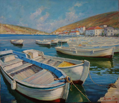Георгий Харченко. Лодки в Балаклаве