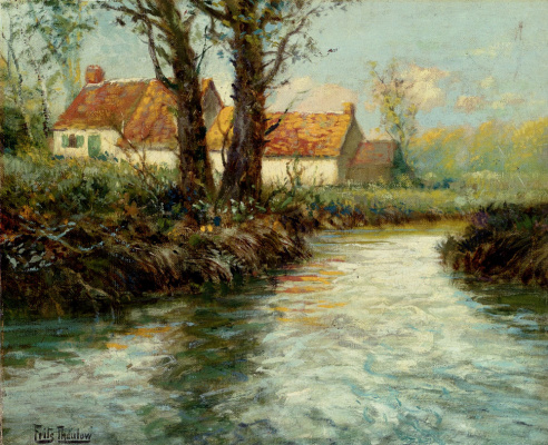 Frits Thaulow. House on the edge of the shore