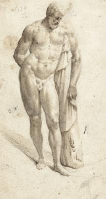 Gerard Terborch (ter Borch). Standing hercules
