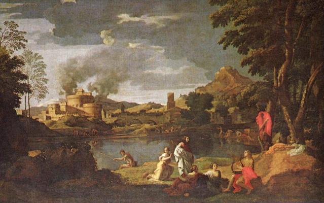 Nicola Poussin. Orpheus and Eurydice