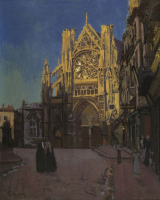 Walter Charles Sickert. Facade of the Cathedral St.-Jacques in Dieppe