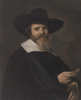 France Hals. Portrait of a Man Holding a Watch