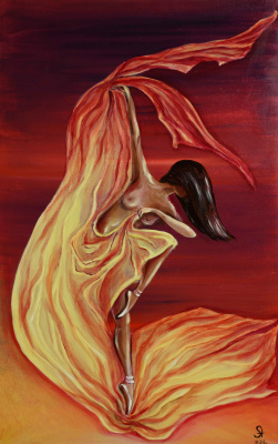 """Alla Struchayeva. Painting """"The movement of the sun"""""""