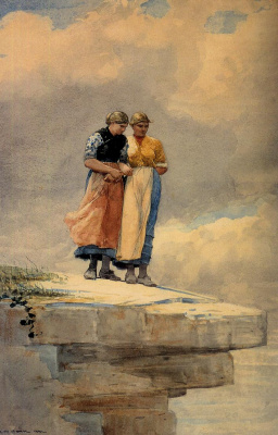Winslow Homer. Looking off the cliff