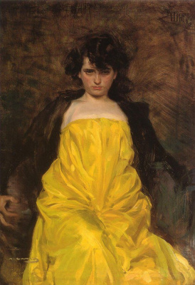 Ramon Casas i Carbó. Portrait of Julia Pereira (La Sargantain)