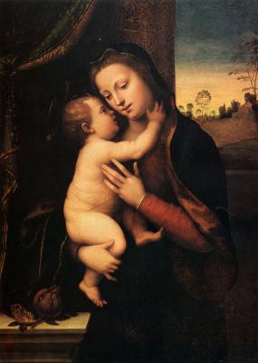 Мариотто Альбертинелли. Мадонна с младенцем