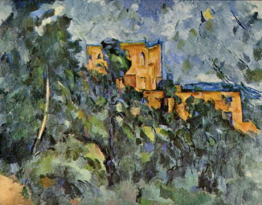Paul Cezanne. Castle black
