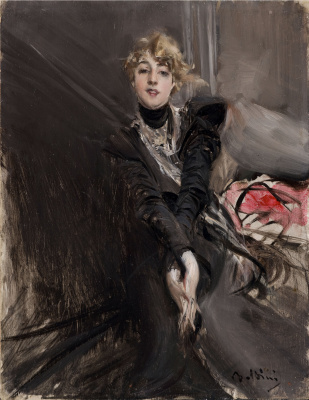 Giovanni Boldini. Portrait of actress Jeanne Renoir
