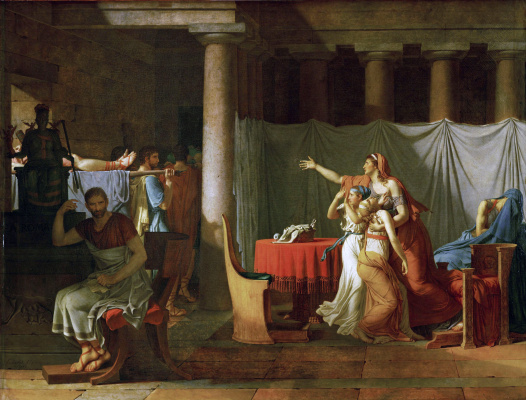 Jacques-Louis David. The lictors bring Brutus the bodies of his sons