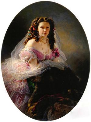 Franz Xaver Winterhalter. Portrait of Varvara Dmitrievna Korsakova, nee Mergasova