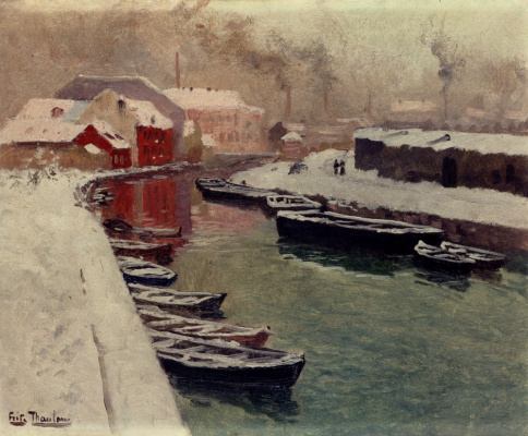 Frits Thaulow. Snow