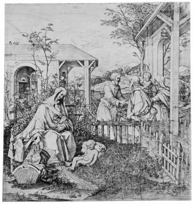 Юлиус Шнорр фон Карольсфельд. Посещение родителями Иоанна родителей Иисуса