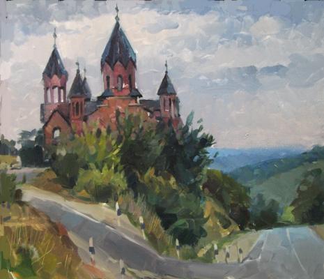 Sergey Anatolevich Bondaryuk. St. George's Church in Gai Kodzor (etude)