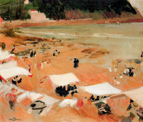 Joaquin Sorolla (Soroya). The beach in Zarautz