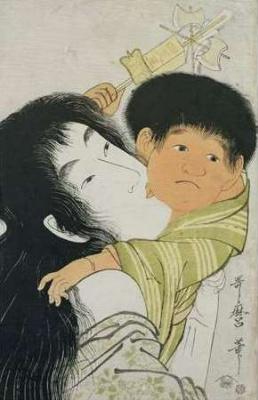Kitagawa Utamaro. Yamauba and Kintaro