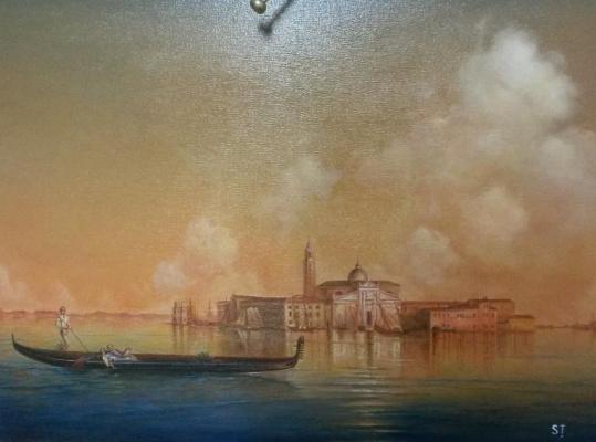 """Terna Serghei. """"View of Venice. San Giorgio """"Aivazovsky copy"""