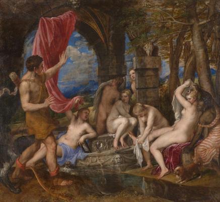 Тициан Вечеллио. Диана и Актеон