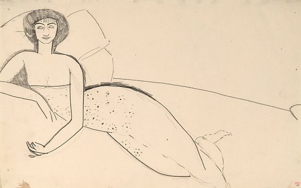 Amedeo Modigliani. Woman lying on the bed (Anna Akhmatova)