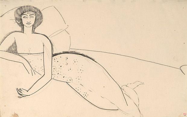 Амедео Модильяни. Женщина, лежащая на кровати (Анна Ахматова)