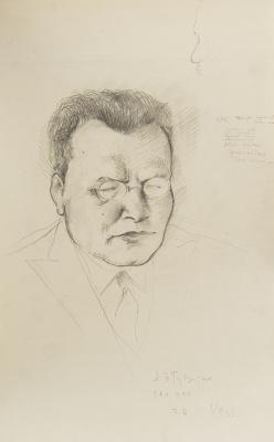 Петр Владимирович Вильямс. Портрет Я.Э. Рудзутака. 1932 42х27 см.