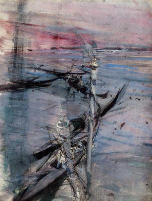 Giovanni Boldini. Seascape in Venice
