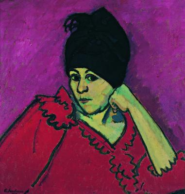 Alexej von Jawlensky. Elena in the blue turban