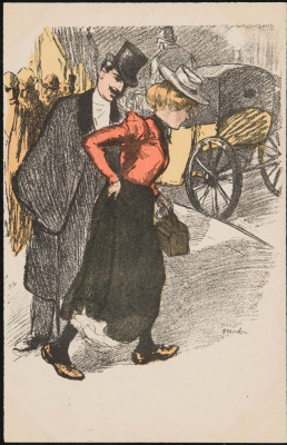 Theophile-Alexander Steinlen. Couple on a walk
