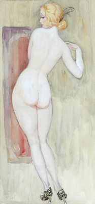 Gerda Wegener. Nude from the back