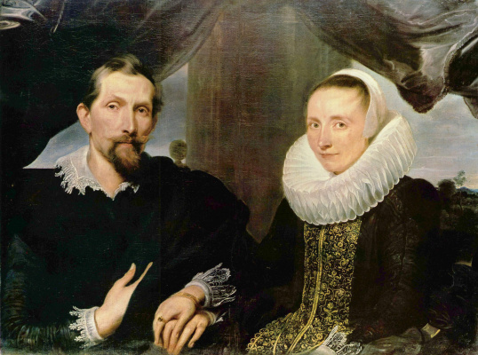 Anthony van Dyck. Portrait of Frans Snyders wife