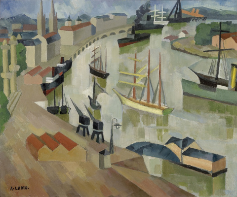 André Lot. The port in Bordeaux. 1911-1915
