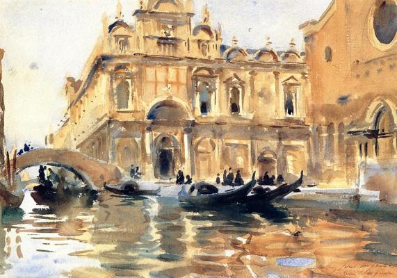 John Singer Sargent. Rio dei Mendicanti